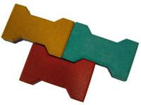 Плитка изрезиновой крошки «Катушка ниток», 235×150×16мм
